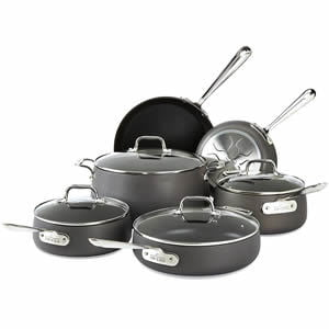 All-Clad E785SC64 Ha1 Hard Anodized Nonstick 10-Piece Cookware Set