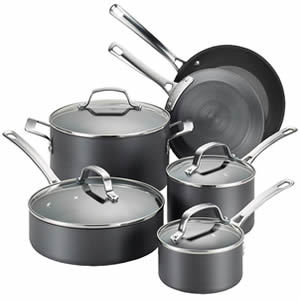 Circulon 83591 Hard Anodized Nonstick 10 Piece Cookware Pots and Pans Set