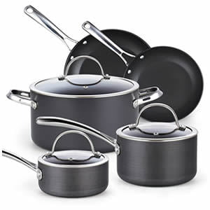 Cooks Standard 02487 8-Piece Nonstick Hard Anodized Cookware Set
