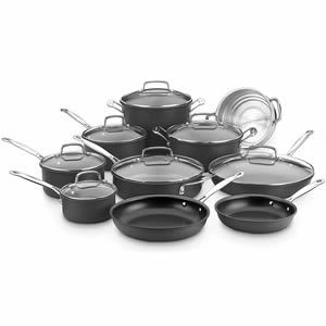 Cuisinart 66-17N Chef's Classic Non-Stick Hard Anodized 17 Piece Set