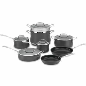 Quick Overview Of Cuisinart 64-13 Contour Hard Anodized 13-Piece Cookware Set