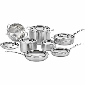 Quick Overview Of Cuisinart MCP-12N Multiclad Pro Stainless Steel 12-Piece Cookware Set