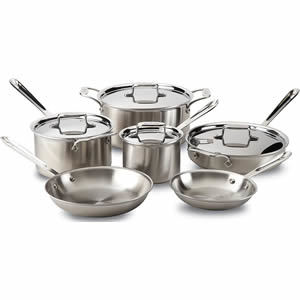 All-Clad D5 10-Piece Brushed Stainless Cookware Set Review