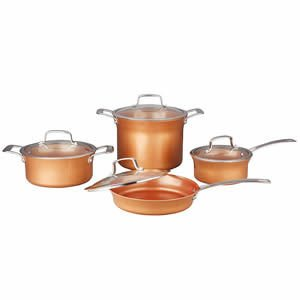 CONCORD 8 Piece Ceramic Coated Copper Cookware (Induction Compatible)