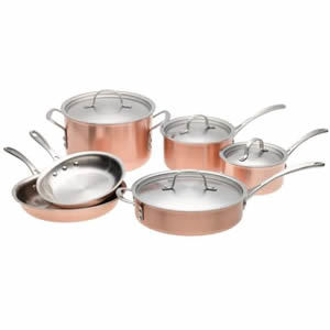 Calphalon T10 Tri-Ply Copper 10 Piece Set