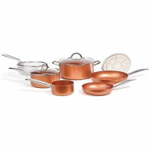 Copper Chef Cookware 9-Pc Ceramic Non-Stick Coating Cookware Set Review