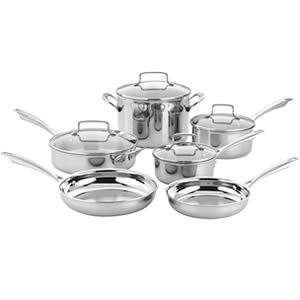 Cuisinart TPS-10 10 Piece Tri-ply Stainless Steel Cookware Set Review