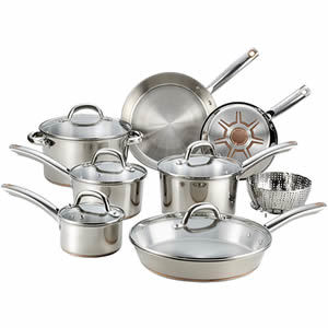 T-fal C836SD Ultimate Stainless Steel Copper Bottom 13 PC Cookware Set Review
