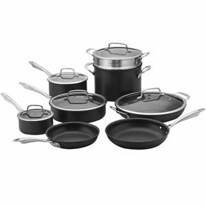 Cuisinart Dishwasher Safe Hard-Anodized 13-Piece Cookware Set