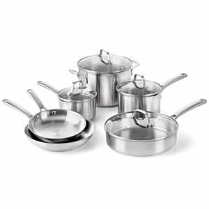 Calphalon Classic Pots And Pans Set 10-Piece Cookware Set