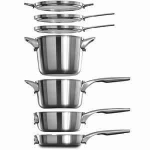 Calphalon Premier Space Saving Stainless Steel 15 Piece Set