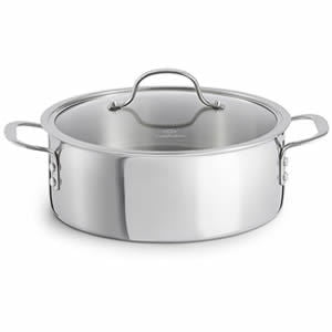 Calphalon Tri-Ply Stainless Steel Cookware Dutch Oven 5-quart