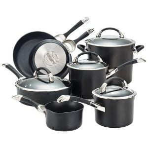 Circulon Symmetry Hard Anodized Nonstick Cookware Pots and Pans Set 11-Piece