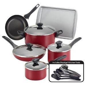 Farberware Dishwasher Safe Nonstick Cookware Pots and Pans Set 15 Piece