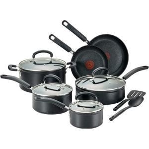 T-fal C561SC Titanium Advanced Nonstick Cookware Set 12-Piece