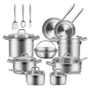 Duxtop Professional Stainless Steel 17PC Pots and Pans Set