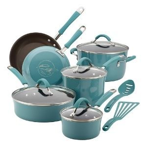 Rachael Ray Cucina Nonstick Cookware Pots and Pans Set 12 Piece