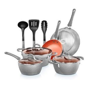 NutriChef Nonstick Pots & Pan Set 11 Pcs