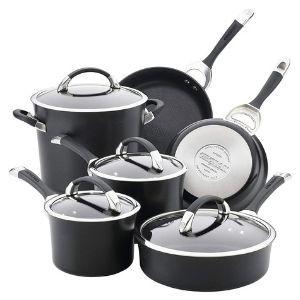 Circulon Symmetry Hard Anodized Nonstick Cookware Pots and Pans Set 10-Piece
