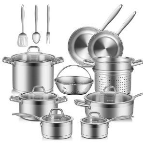 Duxtop Professional Stainless Steel 17PC Induction Cookware Set