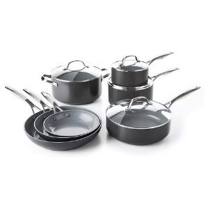 GreenPan Valencia Pro Hard Anodized Induction Safe Cookware Pots and Pans 11-Piece