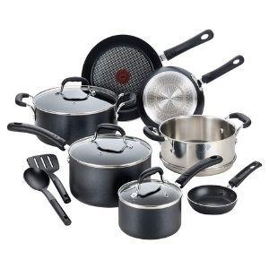 T-fal Professional Nonstick Dishwasher Safe Cookware Set 12-Piece